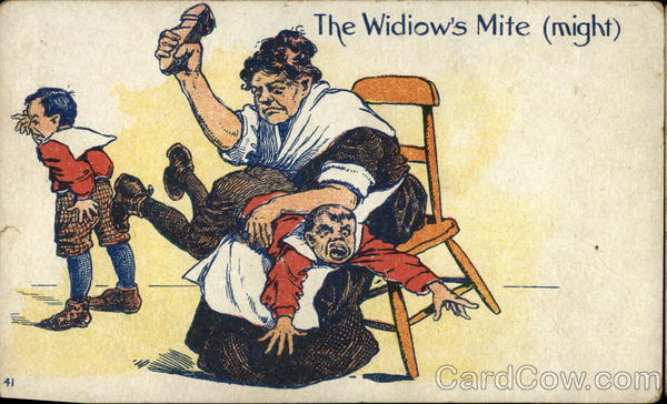 The Widiow's Mite (Might) Comic, Funny
