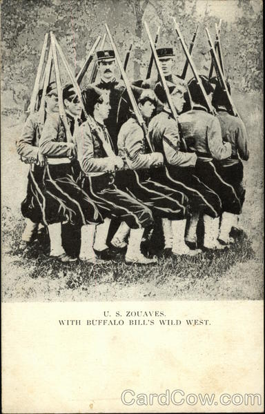 C. S. Zouaves with Buffalo Bill's Wild West Cowboy Western