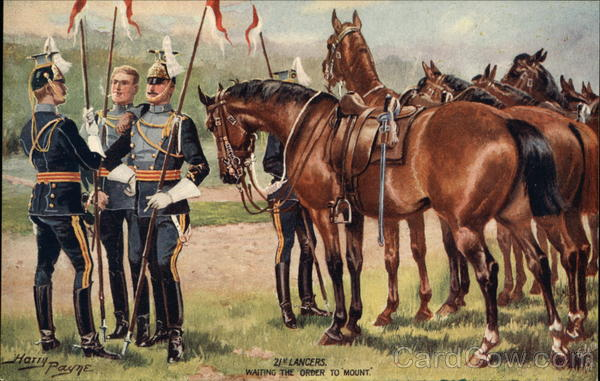 21st Lancers, Waiting the Order to Mount Harry Payne