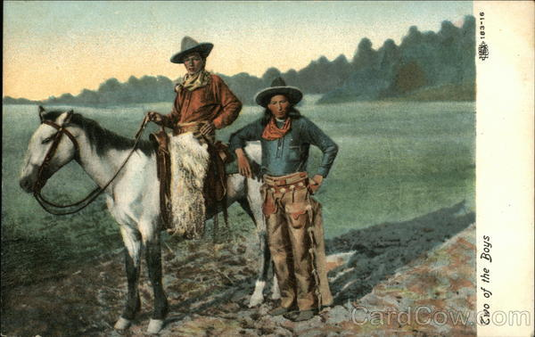 Two of the Boys Cowboy Western