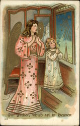 Mother and Daughter Reciting The Lord's Prayer