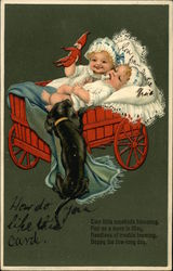 Two Babies in Carriage