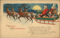 Santa Claus with Reindeer and Sleigh