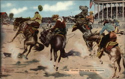 Cowboy Race with Wild Bronchos