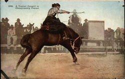 A Typical Cowgirl in Championship Contest