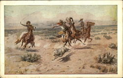 Cowboys Trying to Rope Coyote