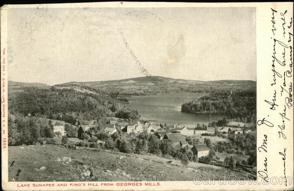 Lake Sunapee and King's Hill from Georges Mills New Hampshire