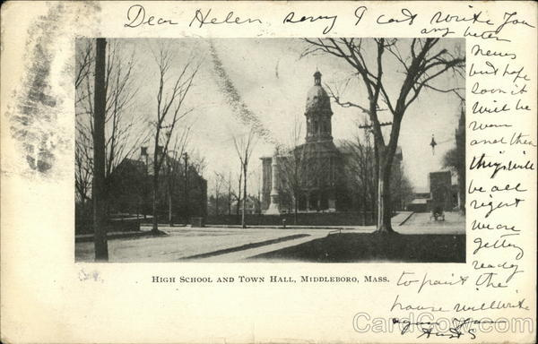 High School and Town Hall Middleboro Massachusetts