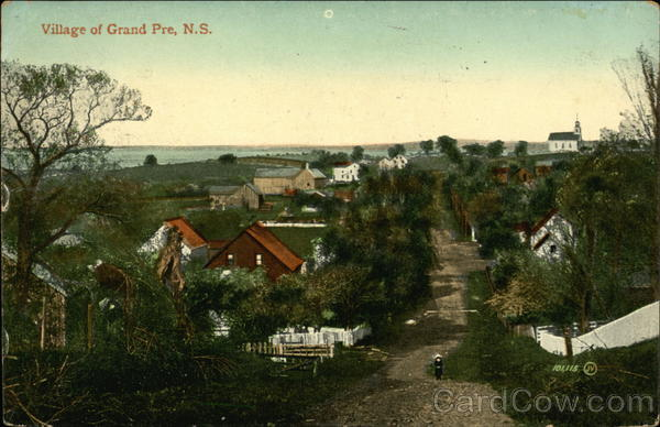 View of Village Grand Pre Canada Nova Scotia
