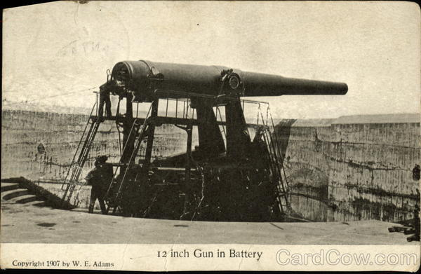 12 Inch Gun in Battery Military