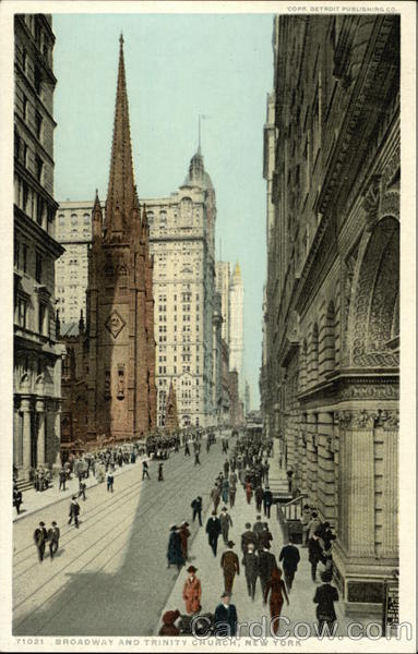 Broadway and Trinity Church New York