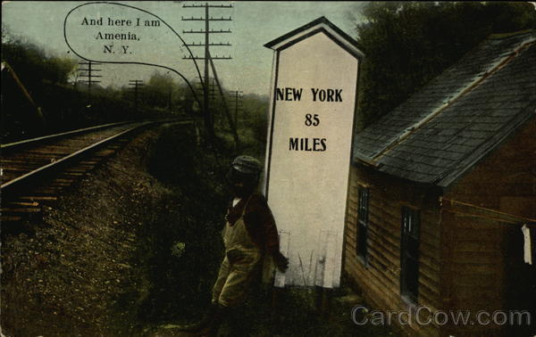 Milepost by the Railway - New York 85 Miles Amenia