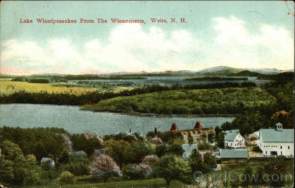 Lake Winnipesaukee from The Winnecoette Weirs Beach New Hampshire