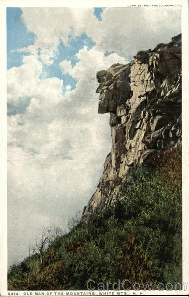 Old Man of the Mountains, White Mountains Franconia New Hampshire