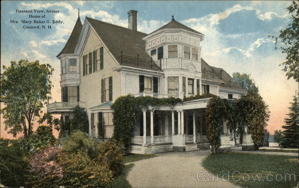 Pleasant View, Former Home of Mrs. Mary Baker G. Eddy Concord New Hampshire