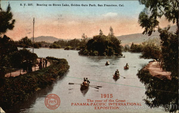Boating on Stowe Lake, Golden Gate Park San Francisco California