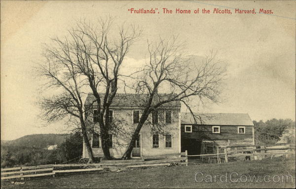 Fruitlands, The Home of the Alcotts Harvard Massachusetts