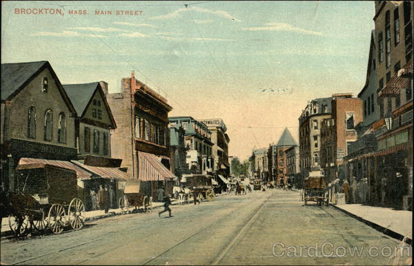 File:Main Street, Looking North From Crescent, Brockton