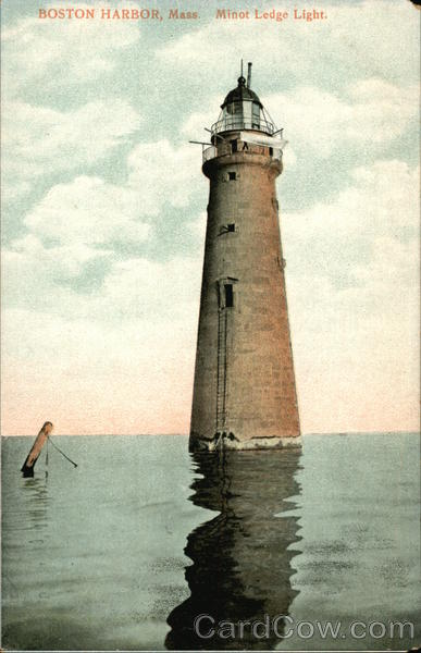 Minot Ledge Light, Boston Harbor Massachusetts