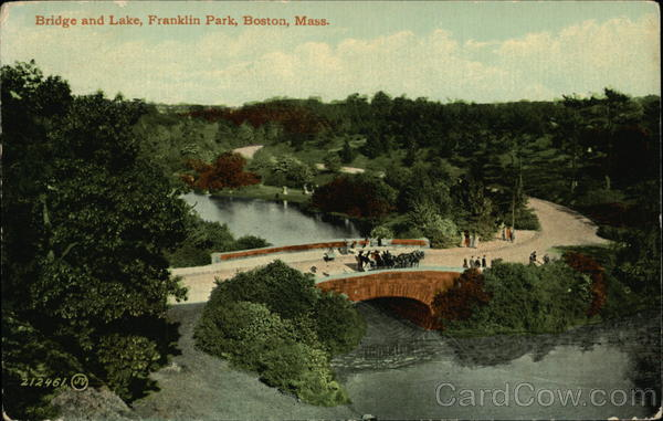 Bridge and Lake, Franklin Park Boston Massachusetts