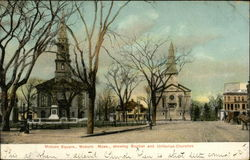 Woburn Square showing Baptist and Unitarian Churches