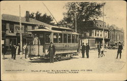 First Electric Tram Sept.17th 1892