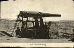 12 Inch Gun in Battery