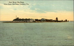 Fort Wool, Rip Raps, View from Old Point Comfort, Va Postcard