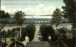 Lake Winnipesaukee from Hotel Postcard