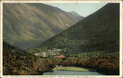 The Profile House and Franconia Notch, From Echo Lake