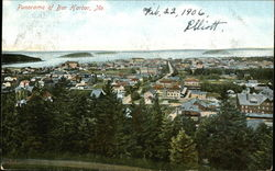 Panorama of Bar Harbor