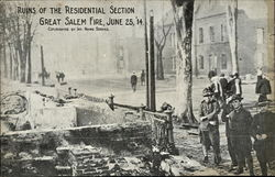 Ruins of Residential Section, Great Salem Fire, Jun 25th, 1914