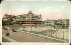 The Oceanside Tennis Courts Postcard