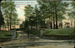 Approach to Mrs. Mary Baker Eddy's Residence Postcard