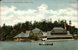 Boat House View from Water, Norumbega Park
