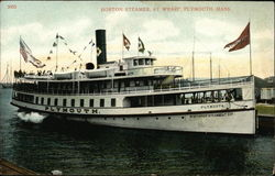 Boston Steamer at Wharf