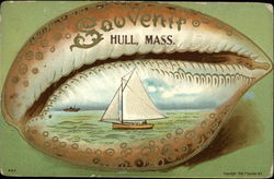 Souvenir - Shell and Sail Boat