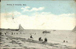 Beach Bathing and Sail Boats