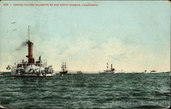 United States Warships in San Diego Harbor California