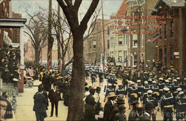 Sailors Parade at Norfolk, Va., Feb. 27, 1909, After the Return From the Trip Around the World Virginia
