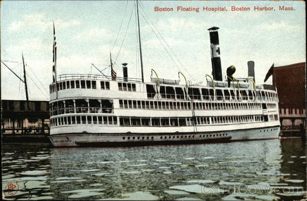 Boston Floating Hospital, Boston Harbor, Mass Massachusetts
