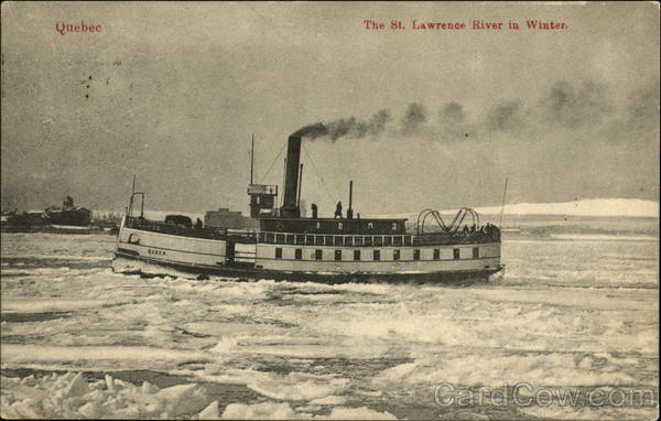 The St. Lawrence River in Winter Quebec Canada Misc. Canada