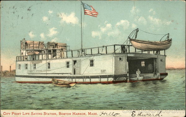 City Point Life Saving Station, Boston Harbor Massachusetts