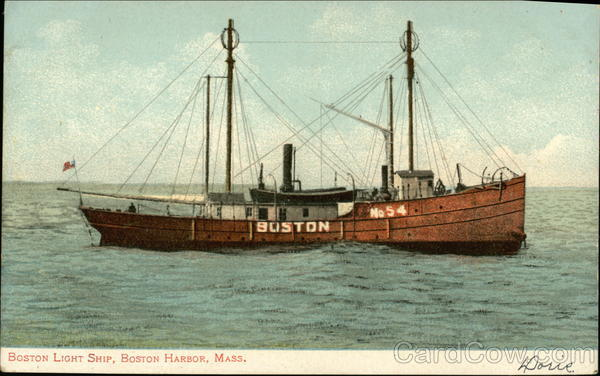 Boston Light Ship, Boston Harbor Massachusetts