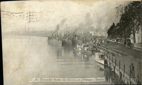 U.S. Torpedo Boats at Docks Orange Texas