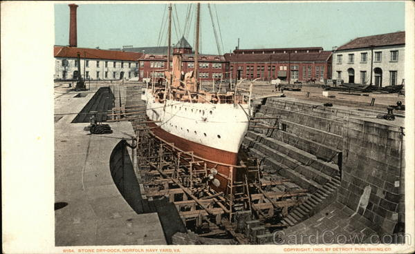 Stone Dry Dock, Norfolk Navy Yard Virginia