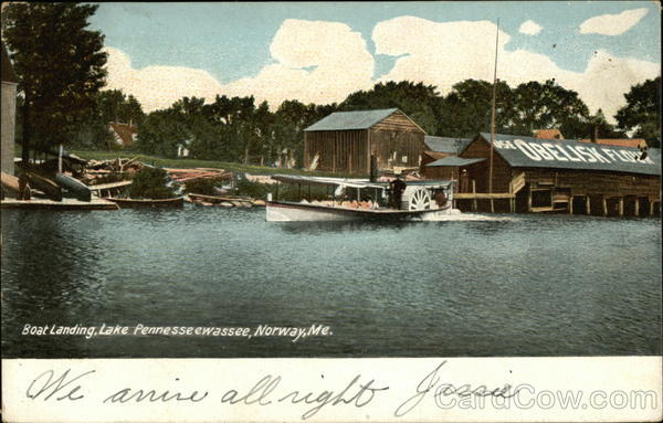 Boat Landing, Lake Pennesseewassee Norway Maine