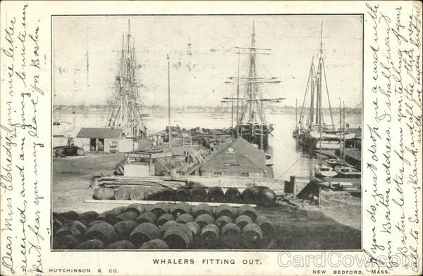 Whalers Fitting Out Boats, Ships