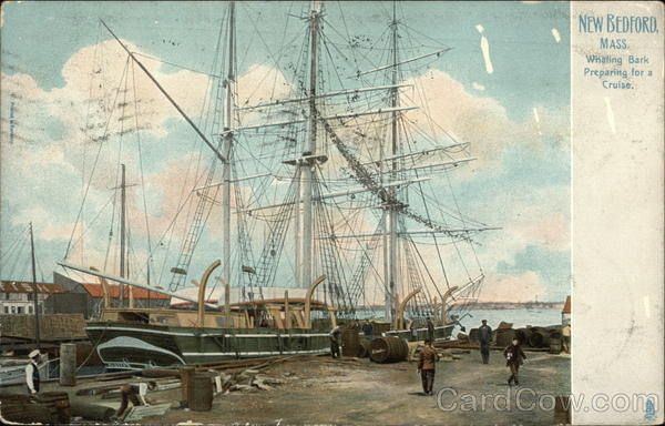 Whaling Bark Preparing for a Cruise New Bedford Massachusetts