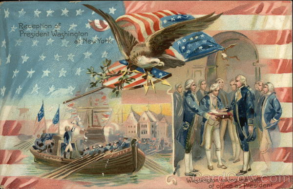 Reception of President Washington at New York Patriotic